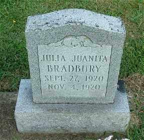 BRADBURY, JULIA JUANITA - Gallia County, Ohio | JULIA JUANITA BRADBURY - Ohio Gravestone Photos