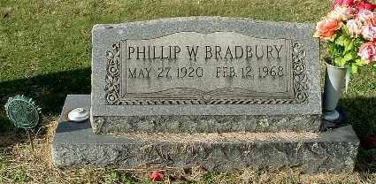 BRADBURY, PHILLIP W - Gallia County, Ohio | PHILLIP W BRADBURY - Ohio Gravestone Photos