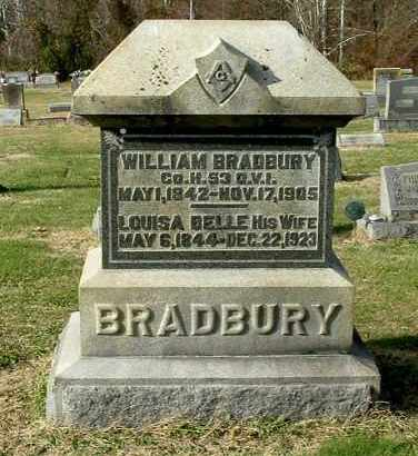 BRADBURY, WILLIAM - Gallia County, Ohio | WILLIAM BRADBURY - Ohio Gravestone Photos