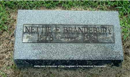 BRANDEBURY, NETTIE F - Gallia County, Ohio | NETTIE F BRANDEBURY - Ohio Gravestone Photos