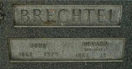 "BRECHTEL, NEVADA ""CLOSE-UP"" - Gallia County, Ohio | NEVADA ""CLOSE-UP"" BRECHTEL - Ohio Gravestone Photos"