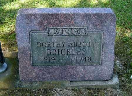 BRICKLES, DORTHY - Gallia County, Ohio | DORTHY BRICKLES - Ohio Gravestone Photos