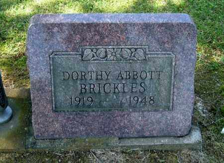 ABBOTT BRICKLES, DORTHY - Gallia County, Ohio | DORTHY ABBOTT BRICKLES - Ohio Gravestone Photos