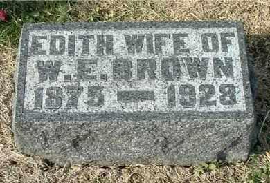 BROWN, EDITH - Gallia County, Ohio | EDITH BROWN - Ohio Gravestone Photos