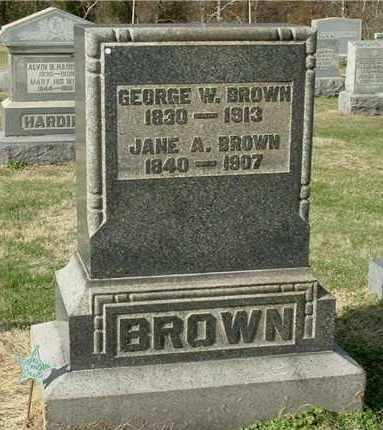 BROWN, GEORGE W - Gallia County, Ohio | GEORGE W BROWN - Ohio Gravestone Photos