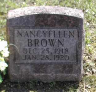 BROWN, NANCYELLEN - Gallia County, Ohio | NANCYELLEN BROWN - Ohio Gravestone Photos