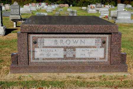 BROWN, RUSSELL R - Gallia County, Ohio | RUSSELL R BROWN - Ohio Gravestone Photos