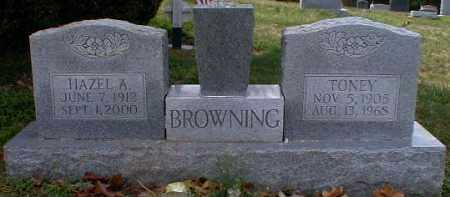 BROWNING, TONEY - Gallia County, Ohio | TONEY BROWNING - Ohio Gravestone Photos