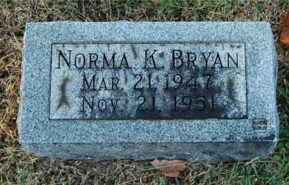 BRYAN, NORMA K - Gallia County, Ohio | NORMA K BRYAN - Ohio Gravestone Photos