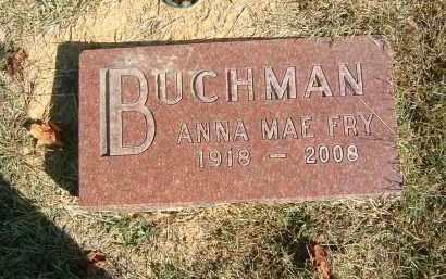 FRY BUCHMAN, ANNA MAE - Gallia County, Ohio | ANNA MAE FRY BUCHMAN - Ohio Gravestone Photos