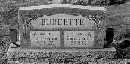 BURDETTE, FREDERICK ALONZO - Gallia County, Ohio | FREDERICK ALONZO BURDETTE - Ohio Gravestone Photos