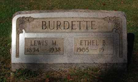 BURDETTE, ETHEL B - Gallia County, Ohio | ETHEL B BURDETTE - Ohio Gravestone Photos