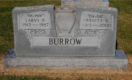 BURROW, FRANCES A - Gallia County, Ohio   FRANCES A BURROW - Ohio Gravestone Photos