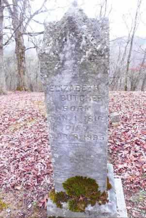 BUTCHER, ELIZABETH - Gallia County, Ohio | ELIZABETH BUTCHER - Ohio Gravestone Photos