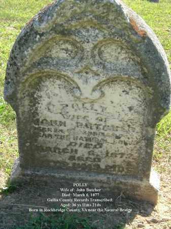 BUTCHER, POLLY - Gallia County, Ohio   POLLY BUTCHER - Ohio Gravestone Photos