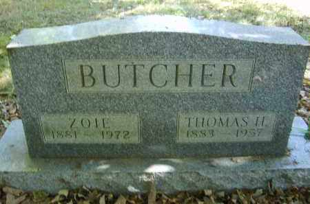 BUTCHER, ZOIE - Gallia County, Ohio   ZOIE BUTCHER - Ohio Gravestone Photos