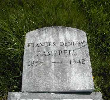 DENNEY CAMPBELL, FRANCES - Gallia County, Ohio | FRANCES DENNEY CAMPBELL - Ohio Gravestone Photos