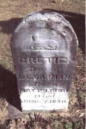 CARMAN, GERTIE - Gallia County, Ohio   GERTIE CARMAN - Ohio Gravestone Photos