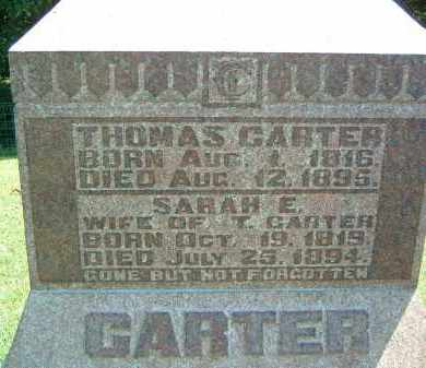 CARTER, SARAH E. - Gallia County, Ohio | SARAH E. CARTER - Ohio Gravestone Photos