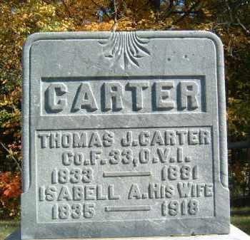 CARTER, ISABELL A - Gallia County, Ohio | ISABELL A CARTER - Ohio Gravestone Photos
