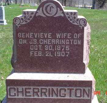 CHERRINGTON, GENEVIEVE - Gallia County, Ohio | GENEVIEVE CHERRINGTON - Ohio Gravestone Photos
