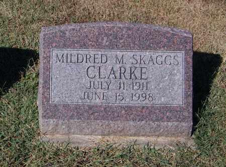 SKAGGS CLARKE, MILDRED M - Gallia County, Ohio | MILDRED M SKAGGS CLARKE - Ohio Gravestone Photos