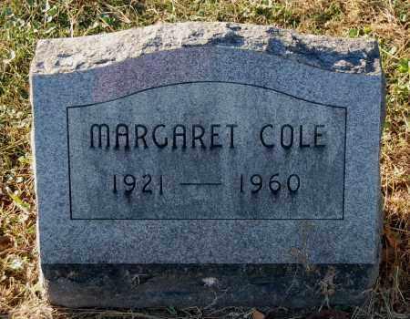 COLE, MARGARET - Gallia County, Ohio | MARGARET COLE - Ohio Gravestone Photos