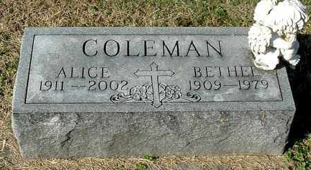 COLEMAN, ALICE - Gallia County, Ohio   ALICE COLEMAN - Ohio Gravestone Photos