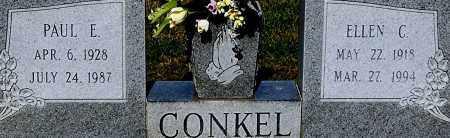 CONKEL, PAUL E (CLOSE-UP) - Gallia County, Ohio   PAUL E (CLOSE-UP) CONKEL - Ohio Gravestone Photos