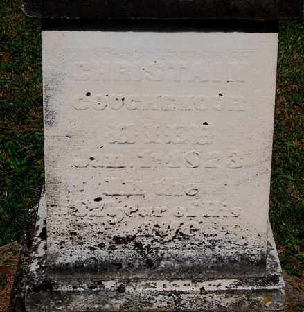 COUGHENOUR, CHRISTAIN (CLOSE-UP) - Gallia County, Ohio   CHRISTAIN (CLOSE-UP) COUGHENOUR - Ohio Gravestone Photos