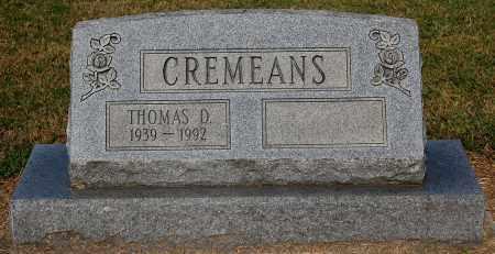 CREMEANS, THOMAS D - Gallia County, Ohio   THOMAS D CREMEANS - Ohio Gravestone Photos