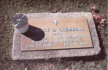 CREMEENS, HORACE BD. - Gallia County, Ohio   HORACE BD. CREMEENS - Ohio Gravestone Photos