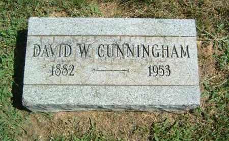 CUNNINGHAM, DAVID W. - Gallia County, Ohio | DAVID W. CUNNINGHAM - Ohio Gravestone Photos