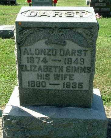 SIMMS DARST, ELIZABETH MAY - Gallia County, Ohio | ELIZABETH MAY SIMMS DARST - Ohio Gravestone Photos