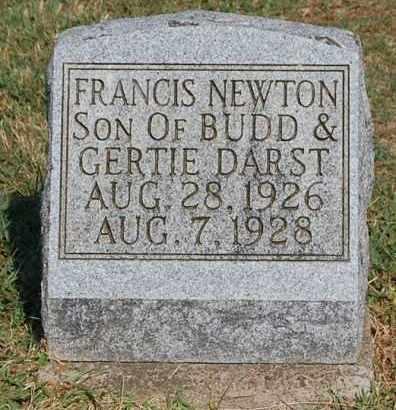 DARST, FRANCIS NEWTON - Gallia County, Ohio | FRANCIS NEWTON DARST - Ohio Gravestone Photos