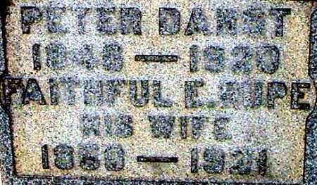 RUPE DARST, FAITHFUL E (CLOSE-UP) - Gallia County, Ohio | FAITHFUL E (CLOSE-UP) RUPE DARST - Ohio Gravestone Photos
