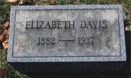 DAVIS, ELIZABETH - Gallia County, Ohio | ELIZABETH DAVIS - Ohio Gravestone Photos