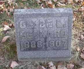 DECKARD, CLYDE - Gallia County, Ohio | CLYDE DECKARD - Ohio Gravestone Photos