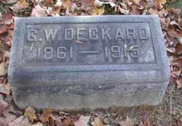 DECKARD, G. - Gallia County, Ohio | G. DECKARD - Ohio Gravestone Photos