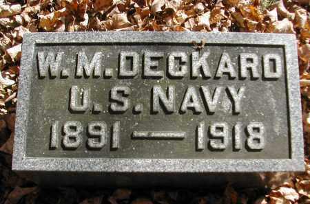 DECKARD, W. - Gallia County, Ohio | W. DECKARD - Ohio Gravestone Photos