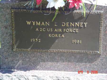 DENNEY, WYMAN - Gallia County, Ohio   WYMAN DENNEY - Ohio Gravestone Photos