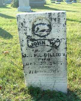 DILLION, JOHN W. - Gallia County, Ohio | JOHN W. DILLION - Ohio Gravestone Photos