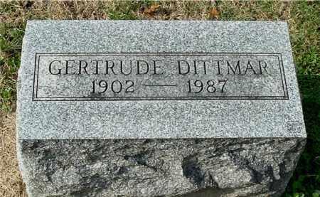 DITTMAR, GERTRUDE - Gallia County, Ohio | GERTRUDE DITTMAR - Ohio Gravestone Photos
