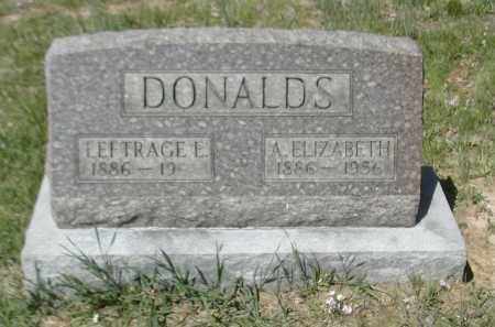 DONALDS, LEFTRAGE E. - Gallia County, Ohio | LEFTRAGE E. DONALDS - Ohio Gravestone Photos
