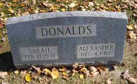 DONALDS, ALEXANDER - Gallia County, Ohio | ALEXANDER DONALDS - Ohio Gravestone Photos