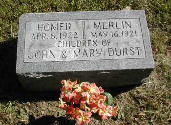 DURST, HOMER - Gallia County, Ohio | HOMER DURST - Ohio Gravestone Photos