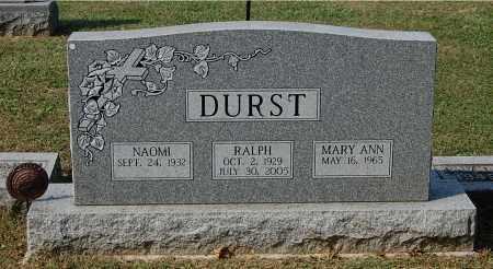 DURST, MARY ANN - Gallia County, Ohio | MARY ANN DURST - Ohio Gravestone Photos