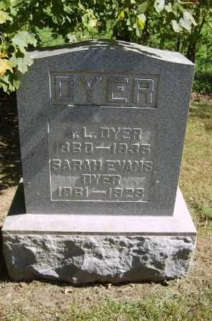 EVANS DYER, SARAH - Gallia County, Ohio | SARAH EVANS DYER - Ohio Gravestone Photos