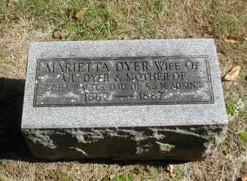ADKINS DYER, MARIETTA - Gallia County, Ohio | MARIETTA ADKINS DYER - Ohio Gravestone Photos