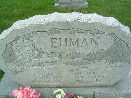 EHMAN, VIRGINIA A. - Gallia County, Ohio | VIRGINIA A. EHMAN - Ohio Gravestone Photos